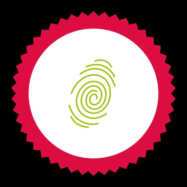 """Image du Badge """"Fingerprint (7015)"""" fourni par CK, from The Noun Project sous Creative Commons - Attribution (CC BY 3.0)"""