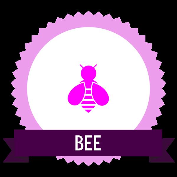 "Image du Badge ""Bee (5673)"" fourni par Juan Sebastian Rickenmann, from The Noun Project sous Creative Commons - Attribution (CC BY 3.0)"